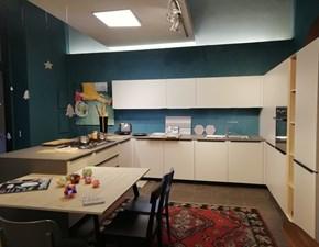 Cucina Cesar cucine moderna con penisola grigio in laminato opaco Ariel