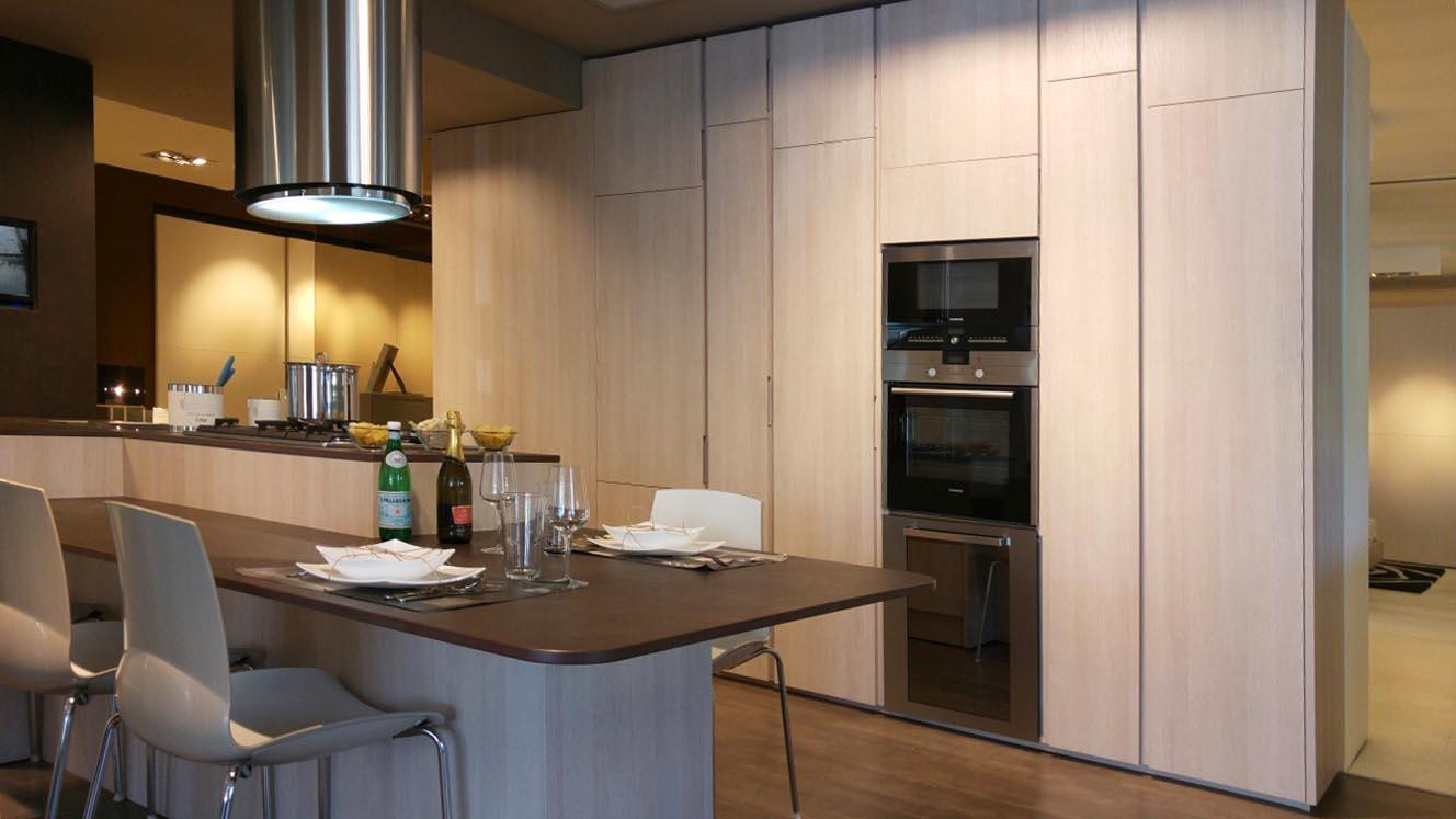 Cucina ad isola cesar in laminato materico cucine a - Prezzi cucine cesar ...