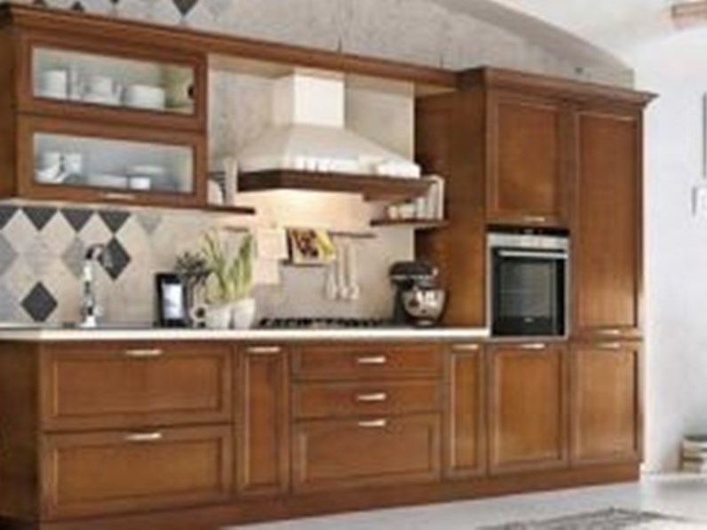 Cucina ciliegio classica lineare I ciliegi Le fablier in Offerta Outlet