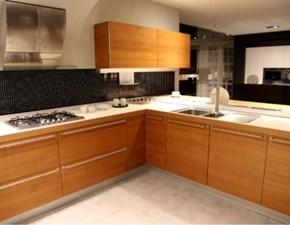 Cucina ciliegio design con penisola Artematica Valcucine