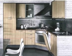 Cucina ciliegio moderna ad angolo Paragon Artec in Offerta Outlet