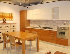 Cucina ciliegio moderna lineare Lyne Dibiesse in Offerta Outlet