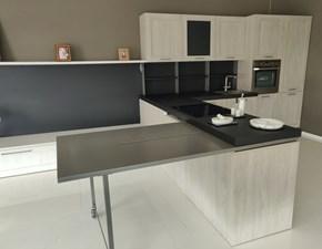 Cucina City moderna rovere chiaro ad angolo Stosa cucine
