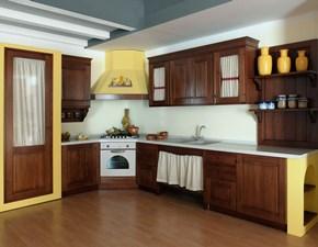 Cucina classica ad angolo Artigianale Legno massello a prezzo ribassato