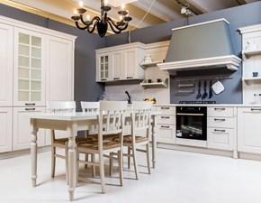 Cucina  classica ad angolo impiallacciata corda