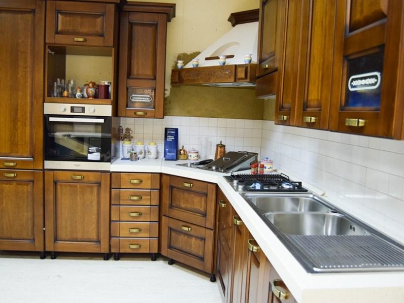 classica ad angolo Stosa cucine Malaga a prezzo ribassato