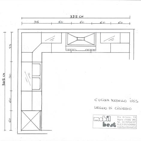 Misure angoli cucine stunning angolo per cucine in muratura su misura entro misure cucina in - Misure mobili cucina ad angolo ...