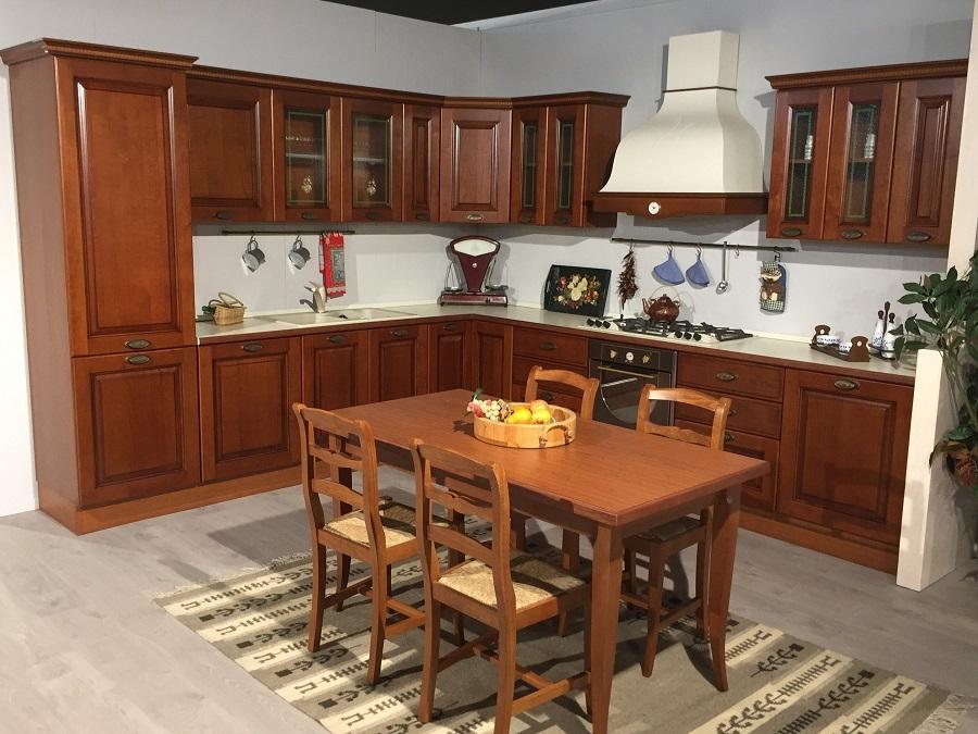 Cucina In Ciliegio Scontata : Cucina classica angolare anta ciliegio massello modello
