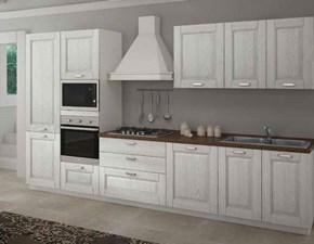 Cucina classica bianca Aerre cucine lineare Raffaella in Offerta Outlet