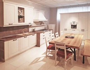 Cucina classica bianca Artigianale ad angolo Asiago in Offerta Outlet