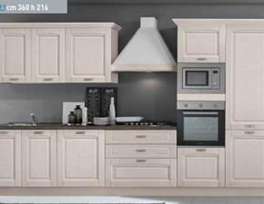 Cucina classica bianca Net cucine lineare Bea in offerta