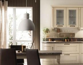 Cucina classica bianca Scavolini lineare Madeleine in Offerta Outlet