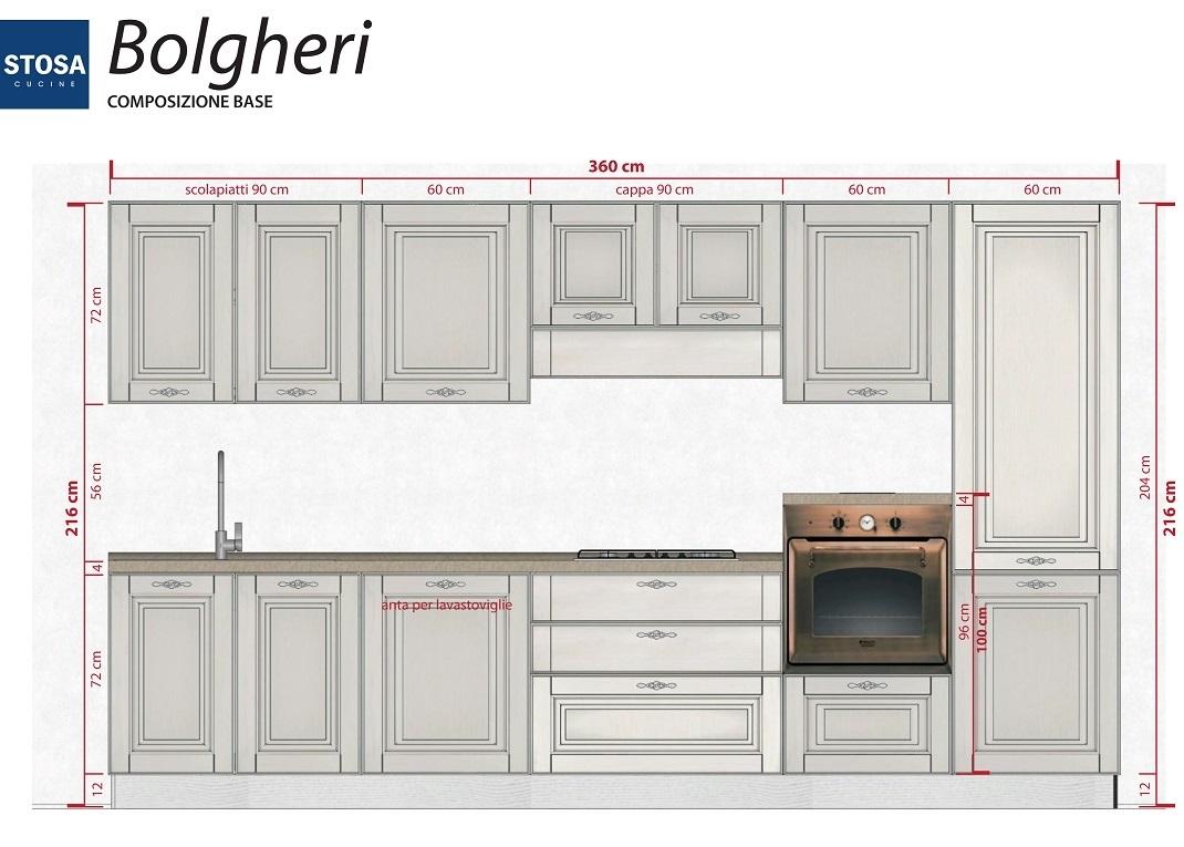 cucina classica bolgheri di stosa cucine composizione base da 360 cm a 3900