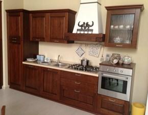 cucina in legno colore noce