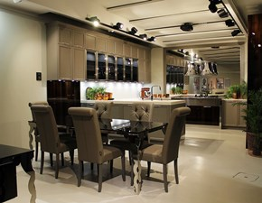 Cucina classica con penisola Doimo cucine Vogue a prezzo scontato