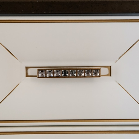 Cucina classica contemporanea Anna di Arrex bianco-oro ...