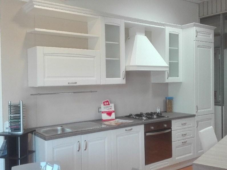 Cucina bea classico legno bianca 50 for Cucina classica bianca