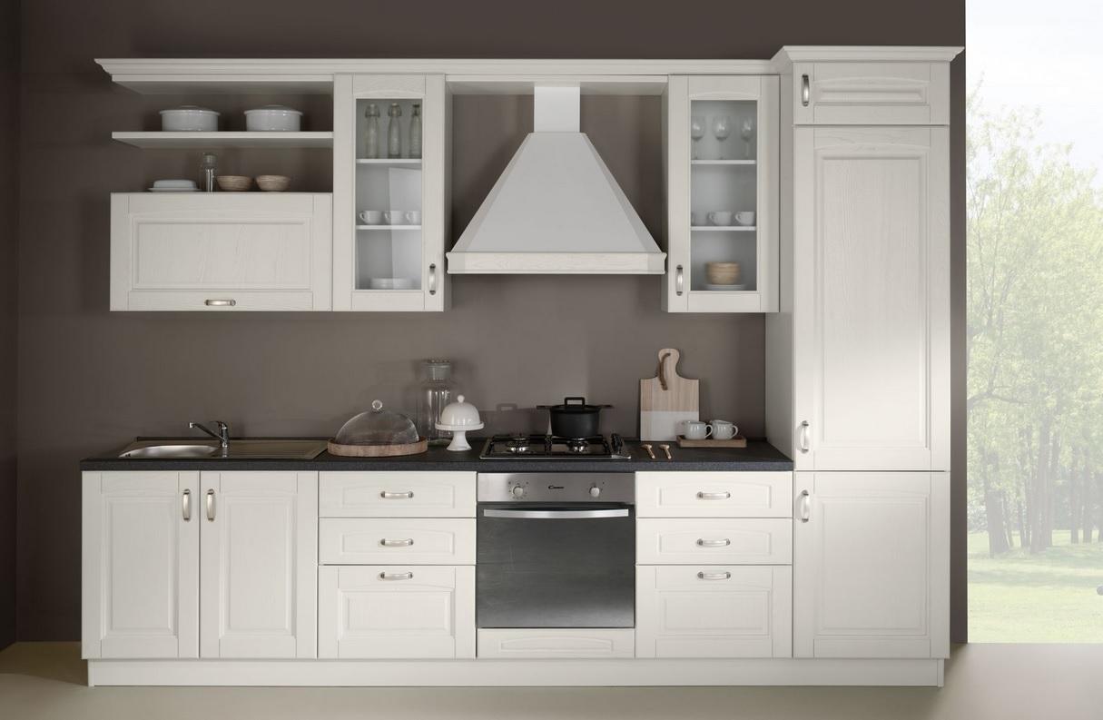 Cucina bea classico legno bianca 50 cucine a prezzi - Cucina legno bianca ...