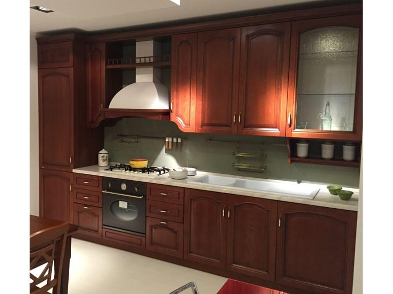 Cucina classica in legno lineare scavolini modello margot - Cucine 3 metri scavolini ...