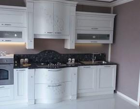 Cucina classica contemporanea Anna di Arrex bianco-oro, top in ...