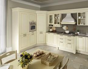 Cucina classica magnolia Ala cucine ad angolo Cucina mod.carlotta decapè avorio con dispensa angolare scontata del 35% in Offerta Outlet