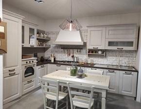 Cucina classica magnolia Evo cucine ad angolo Telma scontata