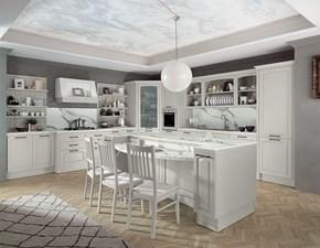 Cucina Colombini casa classica ad angolo bianca in laminato lucido Cucina classica bianca ad angolo colombini
