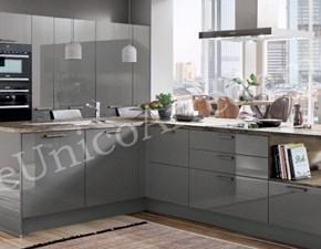 Cucina Colombini casa design ad isola grigio in legno Robin