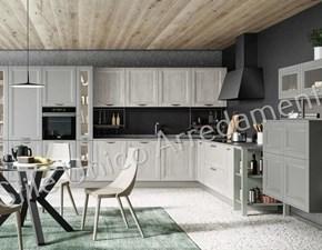 Cucina Colombini casa moderna ad angolo grigio in legno Julian