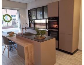 Cucina Colombini casa moderna ad isola rovere moro in laminato opaco Lungomare
