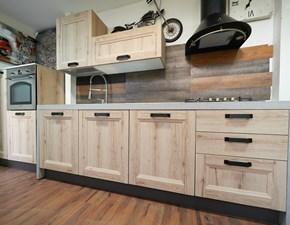 Cucina Colombini industriale lineare rovere chiaro in laminato materico Cucina riveira vintage colore  essenza rovere  offerta