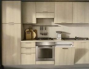Cucina Colombini moderna lineare rovere chiaro in laminato materico Compo 285