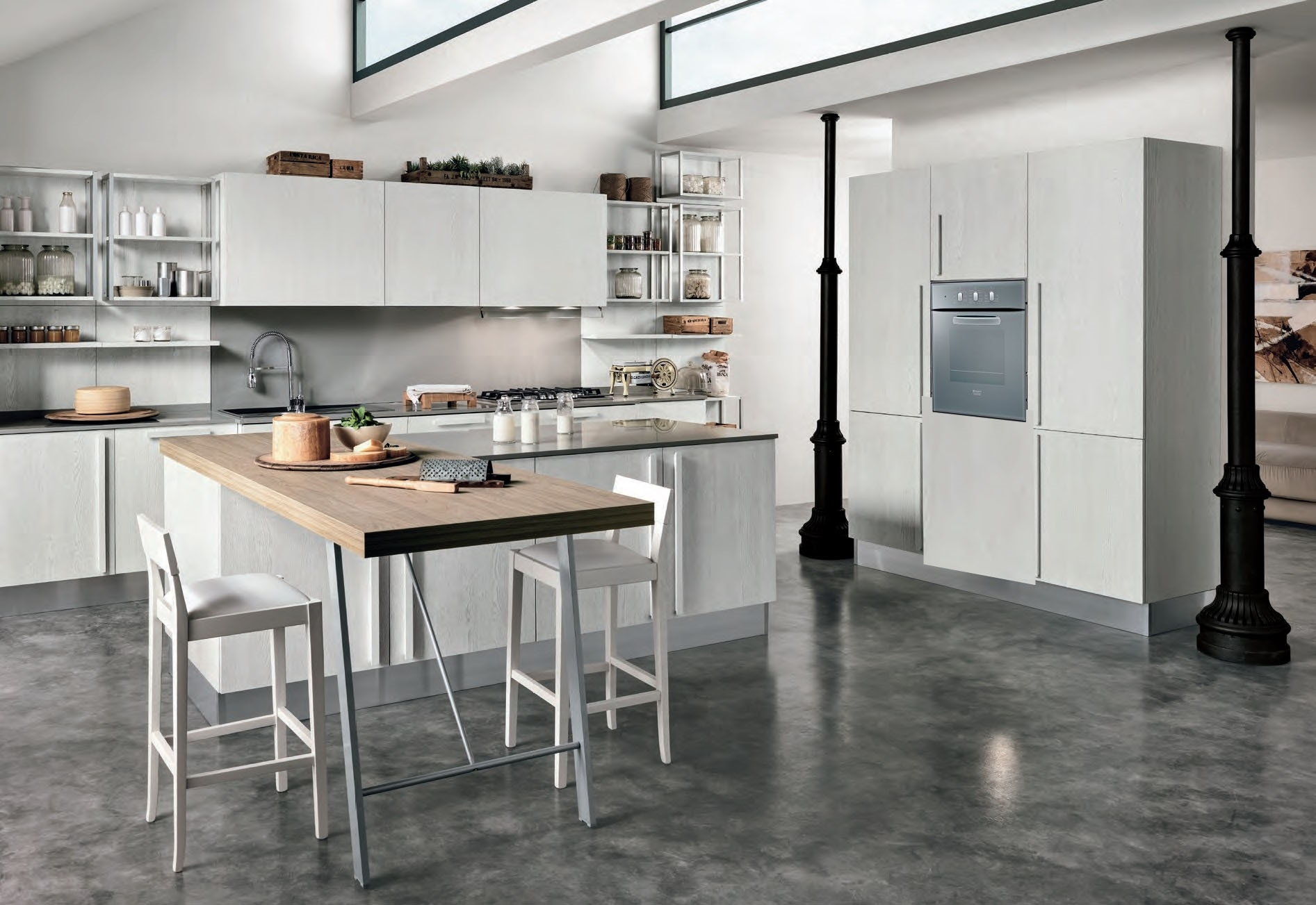 Cucina come foto in offerta con isola outlet nuovimondi for Isola cucina moderna