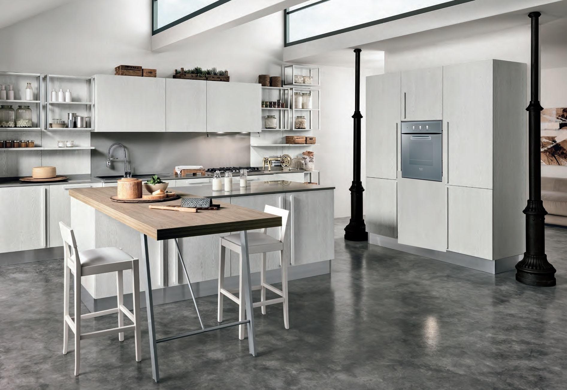 Cucina come foto in offerta con isola outlet nuovimondi for Arredamento outlet