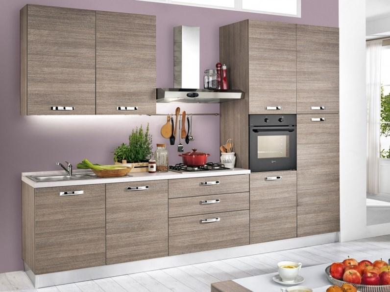 Cucina completa di elettrodomestici moderna