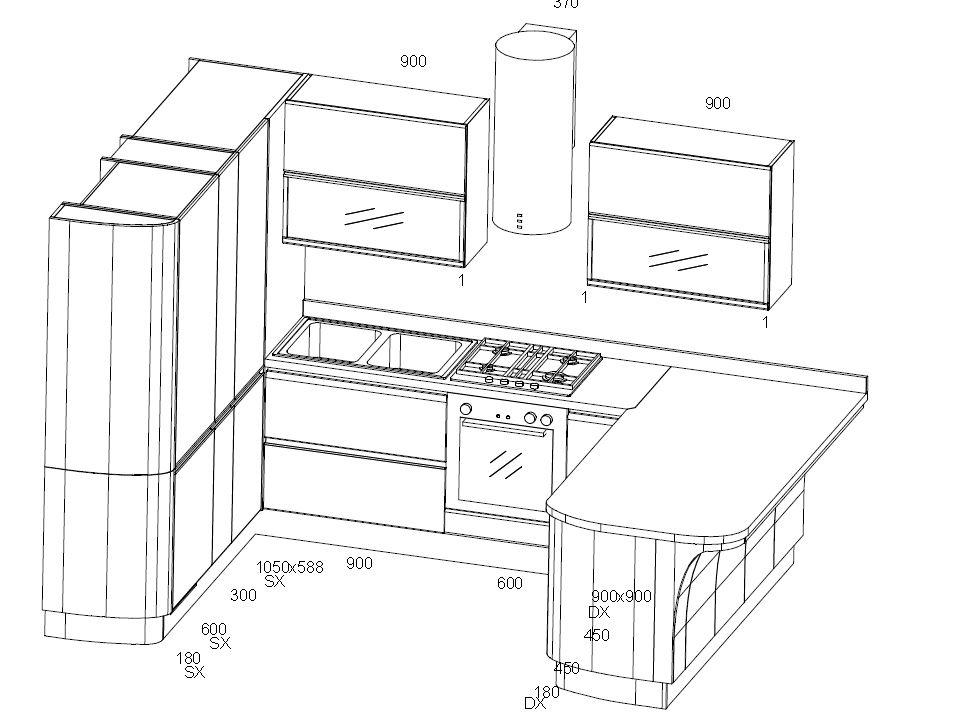 Cucina scavolini tess laccato bianco lucido 53 cucine a prezzi scontati - Top cucina dimensioni ...