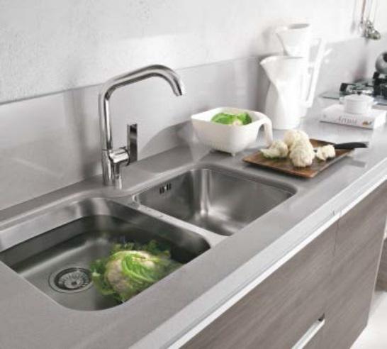 Cucina completa moderna essenza in larice grey in offerta completa ...