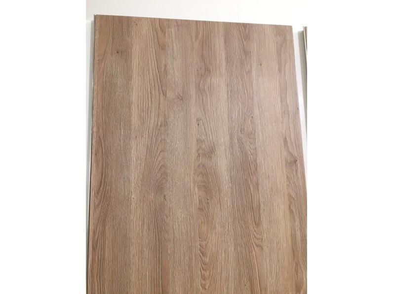 Cucina Astra angolare con porta TV colore rovere e bianco opaco