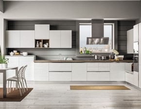 Cucina Componibile moderna bianca ad angolo Arrex
