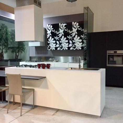 Cucina Composit Mood - isola Design Laminato Materico Bianca ...