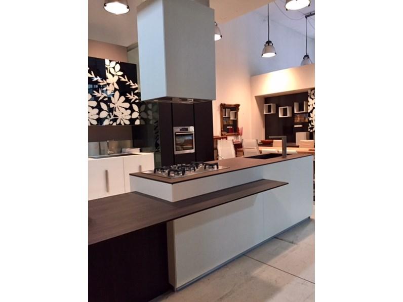 Cucina composit mood isola tavolo integrato design - Isola cucina con tavolo ...