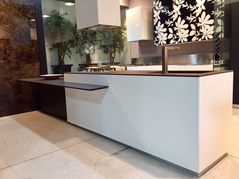 Cucina Composit Mood isola - tavolo integrato Design Laminato ...