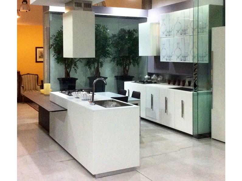 Cucina Composit Mood Design Laminato Materico Bianca - Cucine a ...