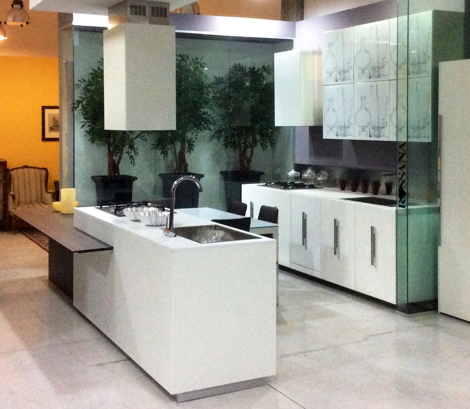 Cucina composit mood design laminato materico bianca for Tavolo isola cucina