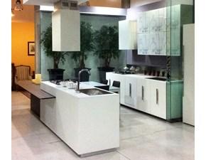 Cucina Composit modello Mood,isola con tavolo integrato,L=402 cm profondità 70/90,comprensiva di elettrodomestici e cappa isola Composit .