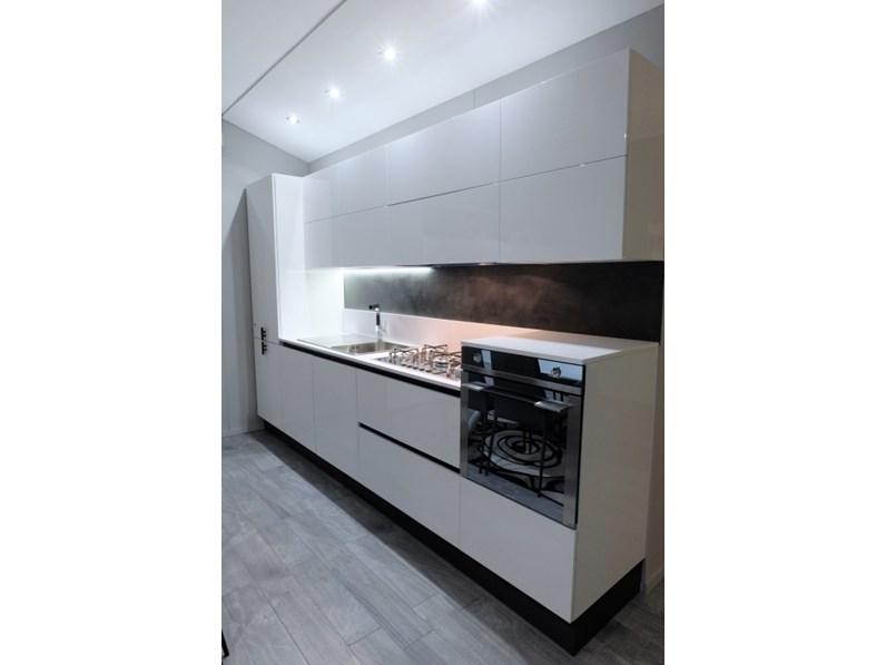 Cucina Composizione laccata bianca moderna bianca lineare Febal