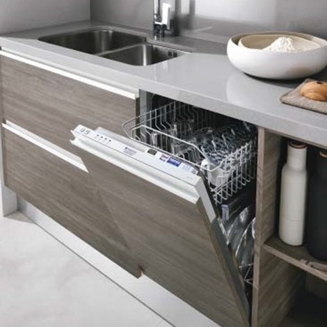cucina composizione moderna con dispensa laccata in offerta, Disegni interni