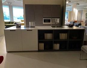 Cucina Comprex moderna ad isola bianca in laminato materico Comprex