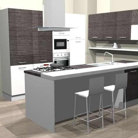 Cucine Con Isole. Best Cucine Moderne Con Isola Centrale Cucina In ...