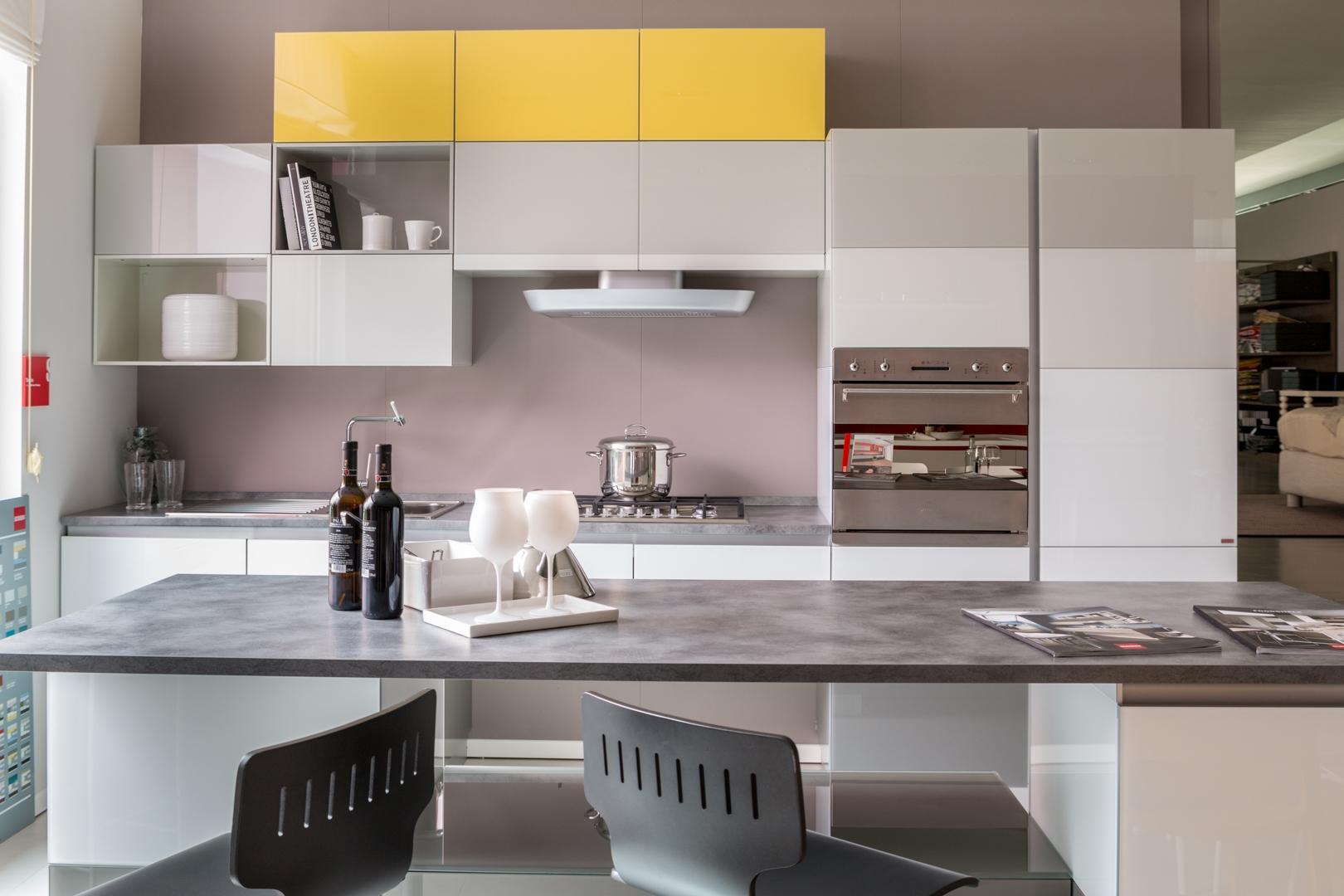 Cucina con isola scavolini modello tetrix scontata del 55 cucine a prezzi scontati - Cucine con isole ...